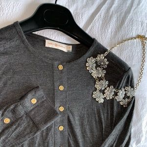Tory Burch Grey Everyday Blouse XS